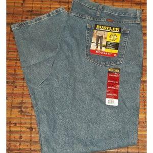 Mens NWT 48 X 32 Rustler reg fit denim jeans NEW
